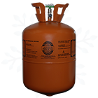 BMP407C Refrigerant 25 lb Cylinder with Snowflake Background