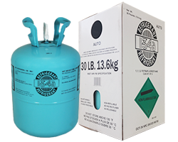 R-134A 30 lb Cylinder with Product Packaging Box