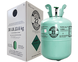 R22 Refrigerant 30 lb Cylinder with Product Packaging Box
